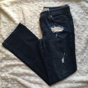 Abercrombie & Fitch Ripped Boot Cut Jeans Size 10R